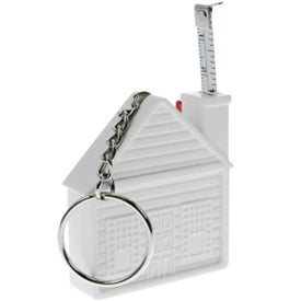 Printed House Tape Measure Keychain
