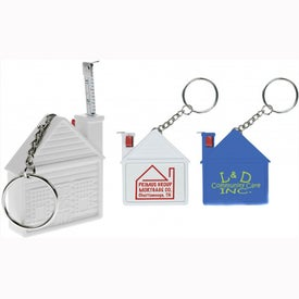 House Tape Measure Keychain for Promotion