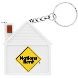 Plastic House Tape Measure Key Chain