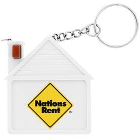 Plastic House Tape Measure Key Chain