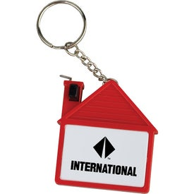 House Tape Measure with Release Button and Key Tag for Marketing