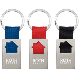 House Keychains with Your Slogan