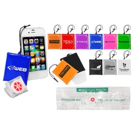 iCleaner Pouch with CPR Shield for Advertising