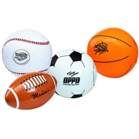 "Inflatable Sports Beach Ball (16"")"