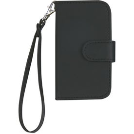 iPhone 4 and 4s Case with Magnetic Close Tab and Strap Imprinted with Your Logo