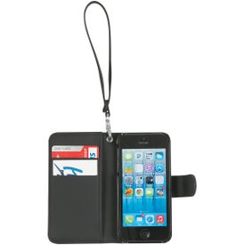 iPhone 5 and 5s Case with Magnetic Close Tab and Strap Imprinted with Your Logo