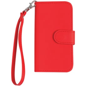 iPhone 5 and 5s Case with Magnetic Close Tab and Strap with Your Slogan