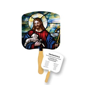 Jesus the Good Shepherd Religious Fan (Full Color)