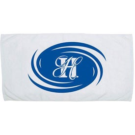 Jewel Collection Beach Towel (White)