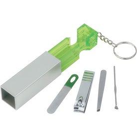 Custom Jewel Manicure Set Key Chain