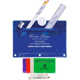 Personalized Jo-Bee Translucent Deluxe School Kit