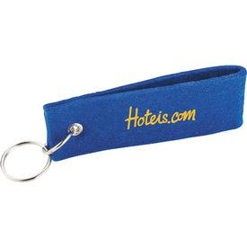 Branded Jubilee Felt Keychain