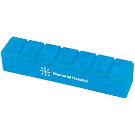 Jumbo 7-Day Strip Pill Box Branded with Your Logo