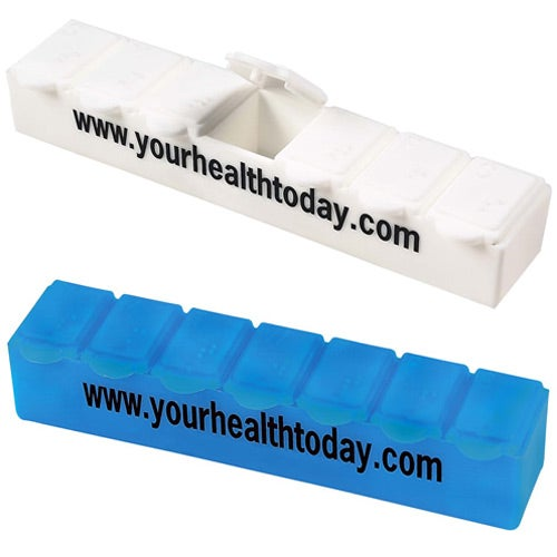 Jumbo 7-Day Strip Pill Box
