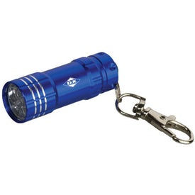 Monogrammed Junction Metal Flashlight with Key Tag