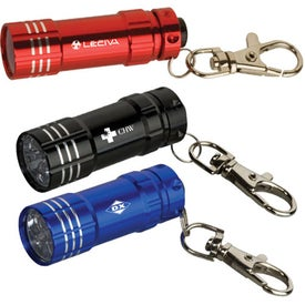 Junction Metal Flashlight with Key Tag