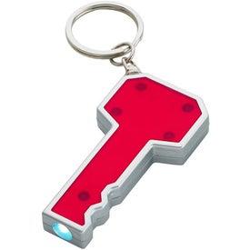 Company Key Shape LED Key Chain