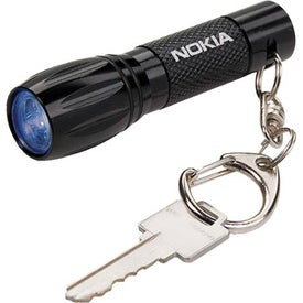 Keychain LED Flashlight with Your Slogan