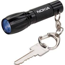 Keychain LED Flashlight with Your Slogan