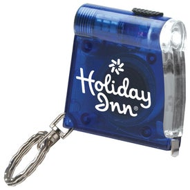 Keychain Tape Measure Light with Your Slogan