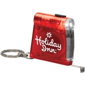 Personalized Keychain Tape Measure Light