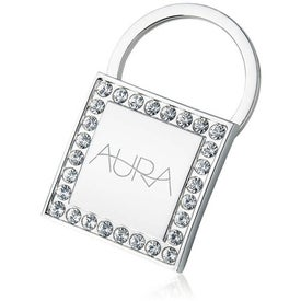 Key Holder Square Shape with Crystal Accents