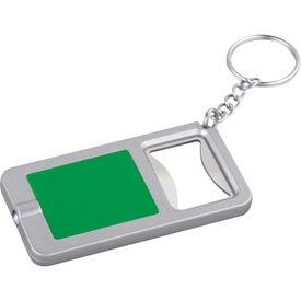 Key-Light / Bottle Opener with Your Slogan
