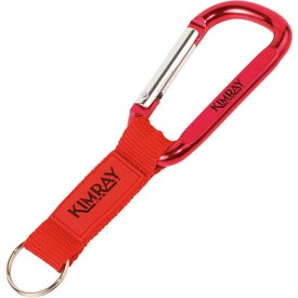 Key Tag Carabiner with Strap and Rubber Patch with Your Logo
