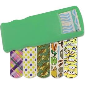 Imprinted Kidz Bandage Dispenser with Character Bandages