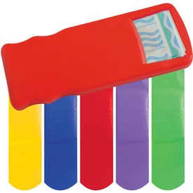 Promotional Kidz Bandage Dispenser with Colored Bandages