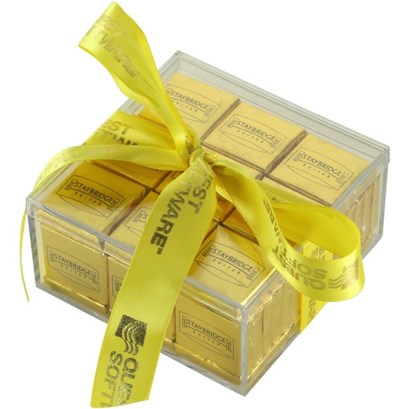 Clear / Gold Knox Gift Boxed Chocolate