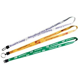 Lace Lanyard with Standard Plastic Clamp