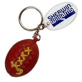 Customized Football Keychain with Laces
