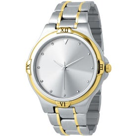 Ladies 2-Tone Designer Watch (Stainless Steel)