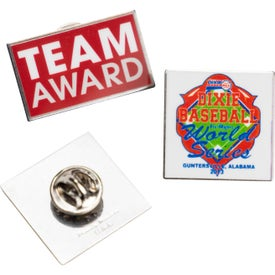 Small Laminated Lapel Pin in Non-Stock Shapes