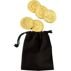 Logo Lancelot Velour Pouch with Lincoln Chocolate Coins