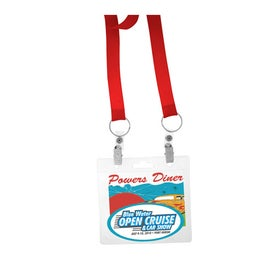 "Lanyard with Two Attachment (3/4"")"