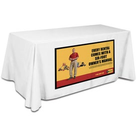 Large Ad Table Cover Fits 6 Foot Table (Flat 4 Sided)