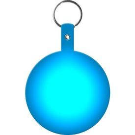 Branded Large Circle Flexible Key Tag