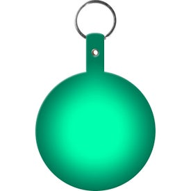 Imprinted Large Circle Flexible Key Tag