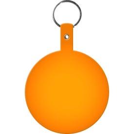 Personalized Large Circle Flexible Key Tag