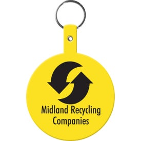 Large Circle Flexible Key Tag for Your Company