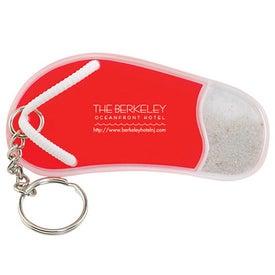 Personalized Large Flip Flop Keytag