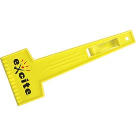 Promotional Large Ice Scraper with Visor Clip