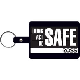 Logo Large Rectangle Key Tag