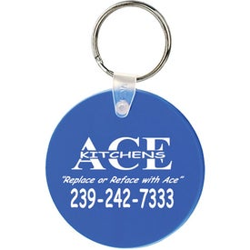 Large Round Soft Key Tag Giveaways