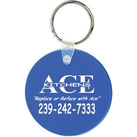 Large Round Soft Key Tag Giveaways