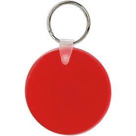 Promotional Large Round Soft Key Tag