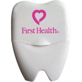 Logo Large Tooth Shaped Dental Floss