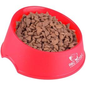 """Monogrammed Larger Dog Bowl 9"""""""